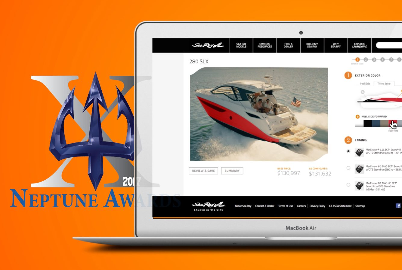 Sea Ray Boat Configurator Wins Neptune Award